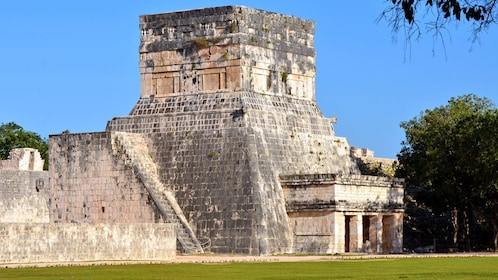 visiting the ancient temple in Chichen Itza
