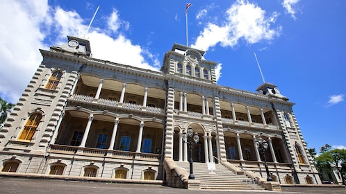 The ?Iolani Palace a royal residence of the Kal?kaua Dynasty in Hawaii