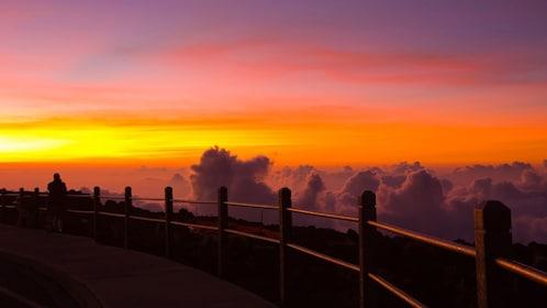 Sunset on Haleakala in Maui Hawaii