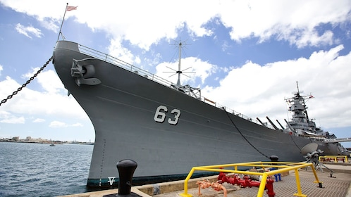 Destroyer used in World War two at Pearl Harbor Museum in Hawaii