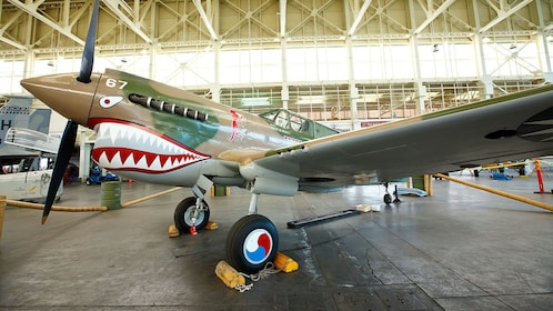 Fighter Plane used in world war two at Pearl Harbor museum in Hawaii