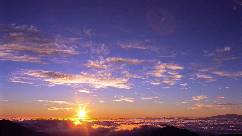 Sunrise on Haleakala Volcano in Maui