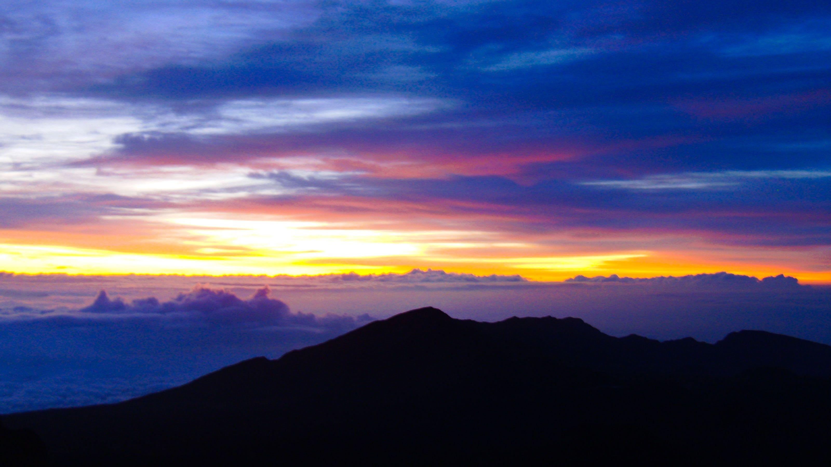 Sunrise on the Haleakala Volcano in Maui