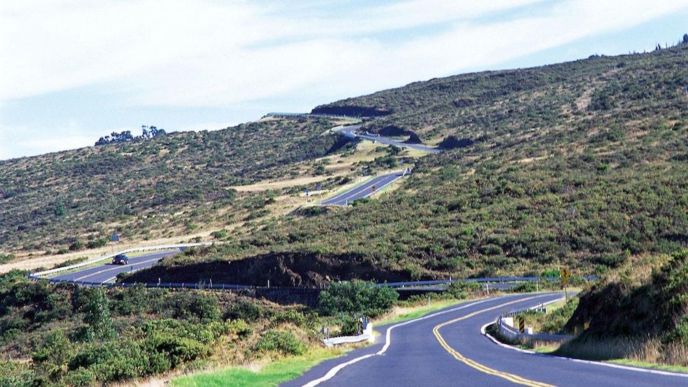 Show item 9 of 9. Curvy road to Haleakala Volcano in Maui