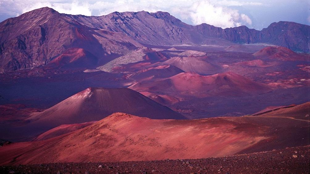Show item 2 of 9. Mountains near Haleakala Volcano in Maui