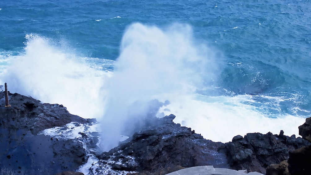 Show item 4 of 9. Halona Blowhole in Oahu