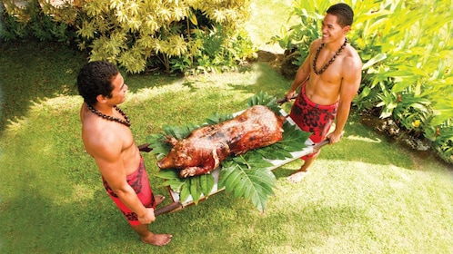 Slow-Roasted Pig is a Hawaiian delicacy offered at the Polynesian Cultural Center