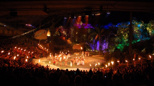 View of the grand stage of the Polynesian Cultural Center
