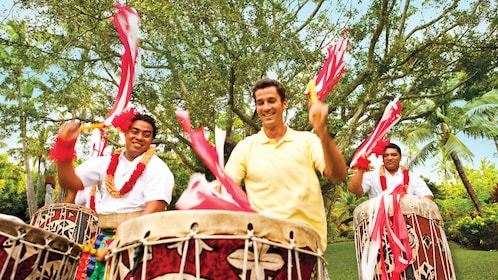 Learn how the play the Polynesian drums the the Cultural Center