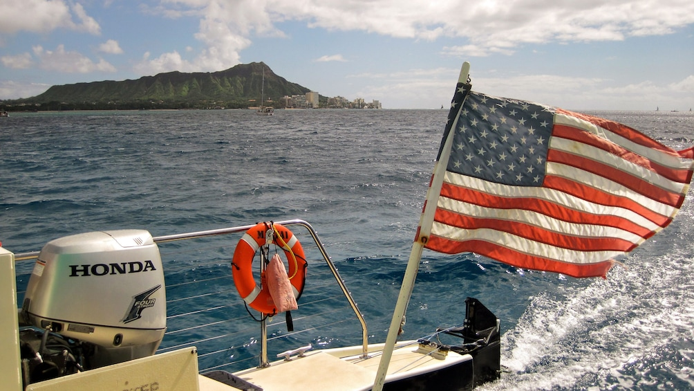 Show item 5 of 8. View from catamaran off of Oahu