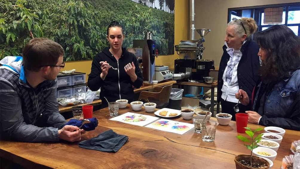 Group on a coffee tasting tour in Portland