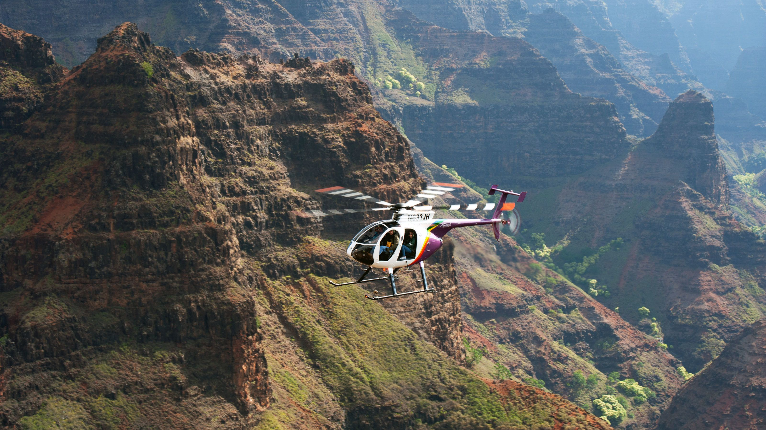 Thrilling doors-off helicopter flight over Kauai