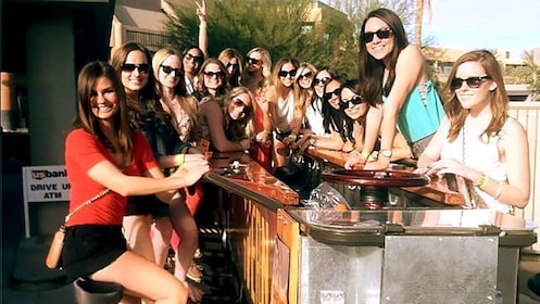 group of girls in sunglasses on the party bike in Phoenix