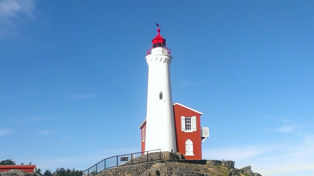 Show item 2 of 5. Lighthouse at Fort Rodd on Vancouver island