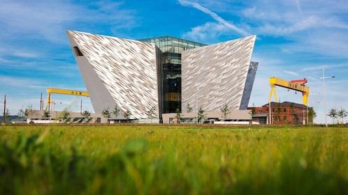 Exterior of the Titanic museum in Belfast, Ireland