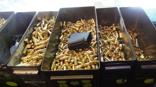 Containers of various bullets