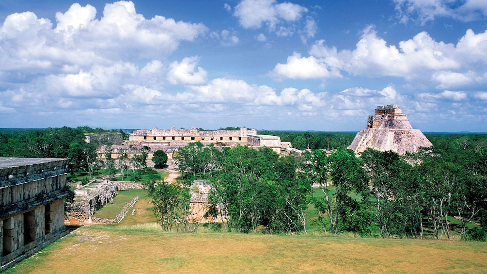 Show item 1 of 8. View over temple remains in Merida