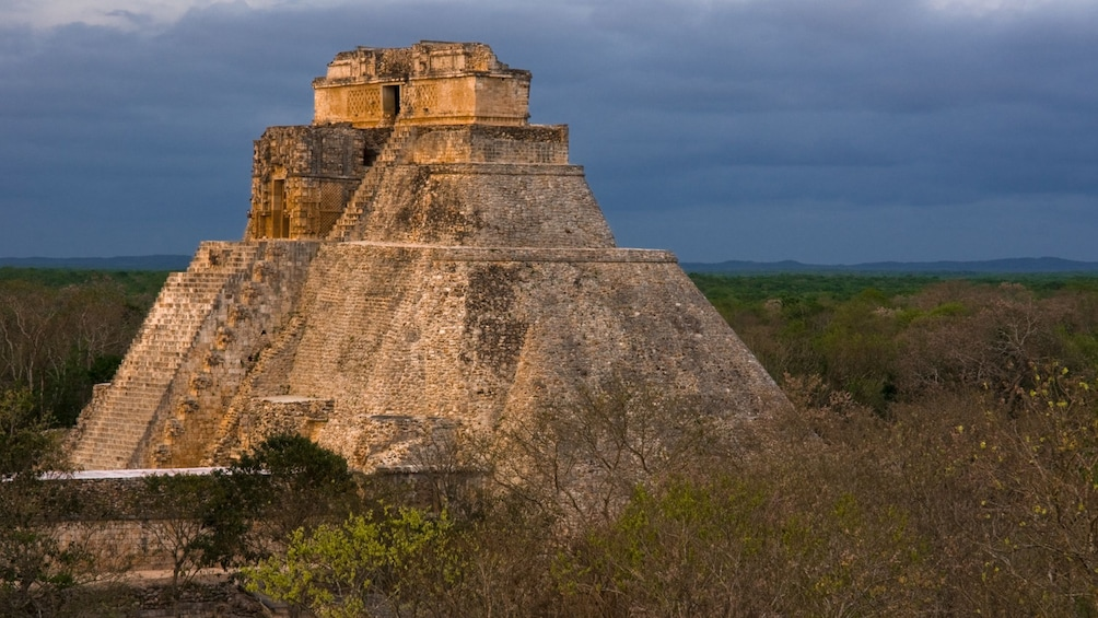 Show item 3 of 8. Uxmal Mayan structure.
