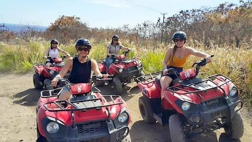 Group enjoying the ATV tour in St. Kitts and Nevis