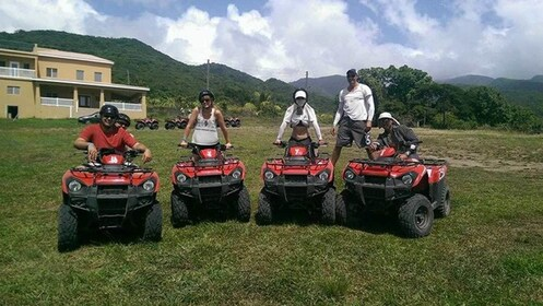 Group on the ATV adventure in St. Kitts and Nevis