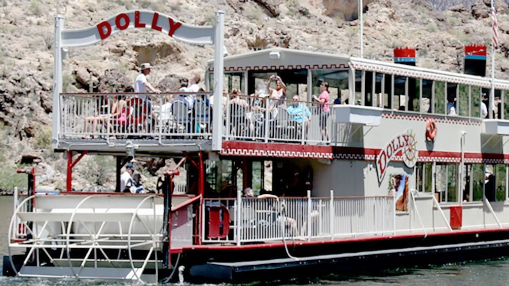 Show item 3 of 4. A Riverboat on the Colorado river called, Dolly