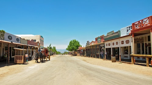 view down street in tombstone