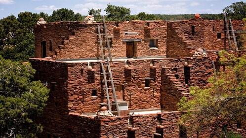 native dwellings near canyon