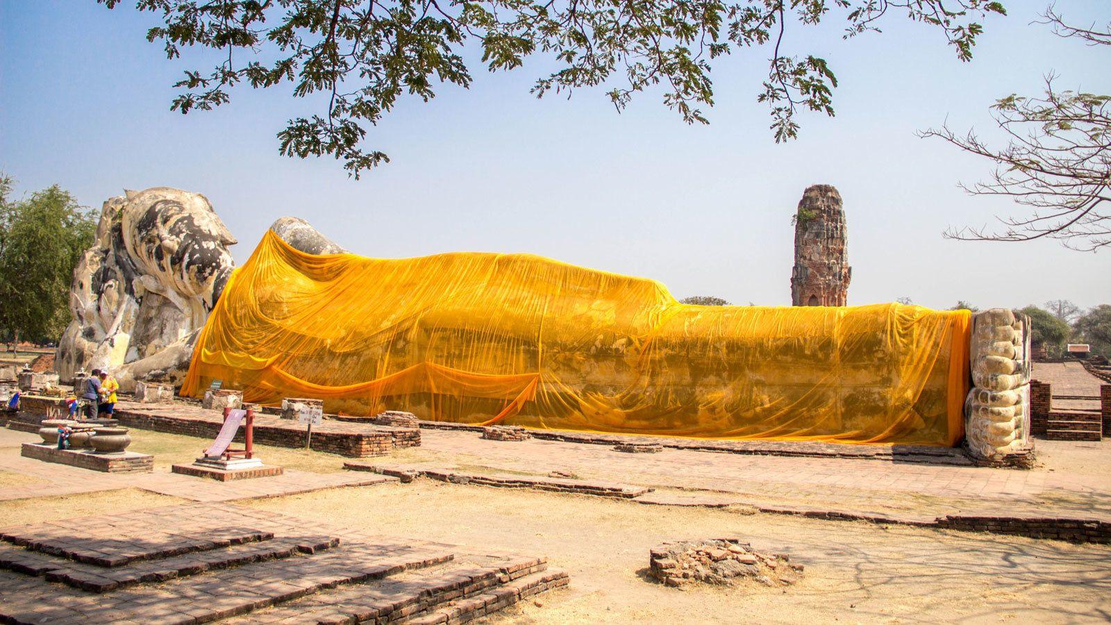 preserving a ancient relic in Bangkok