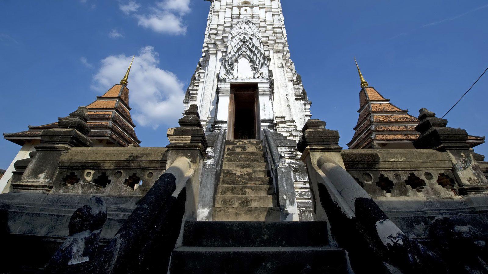 visiting an ancient temple in Bangkok