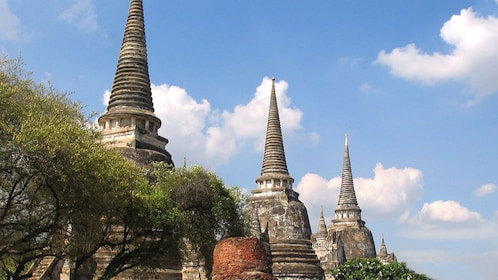 View of historical temples in Bangkok