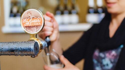 Apple cider on tap on the Yarra Valley Cider & Ale Trail