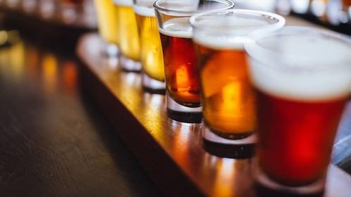 paddle full of beer glasses in Australia