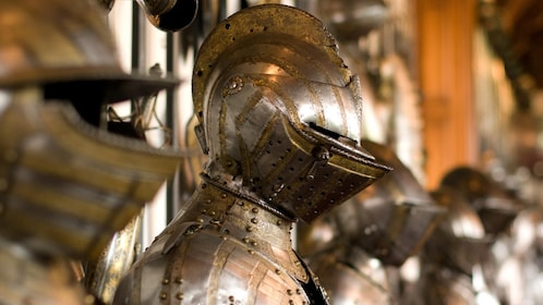 suits of armor in a row