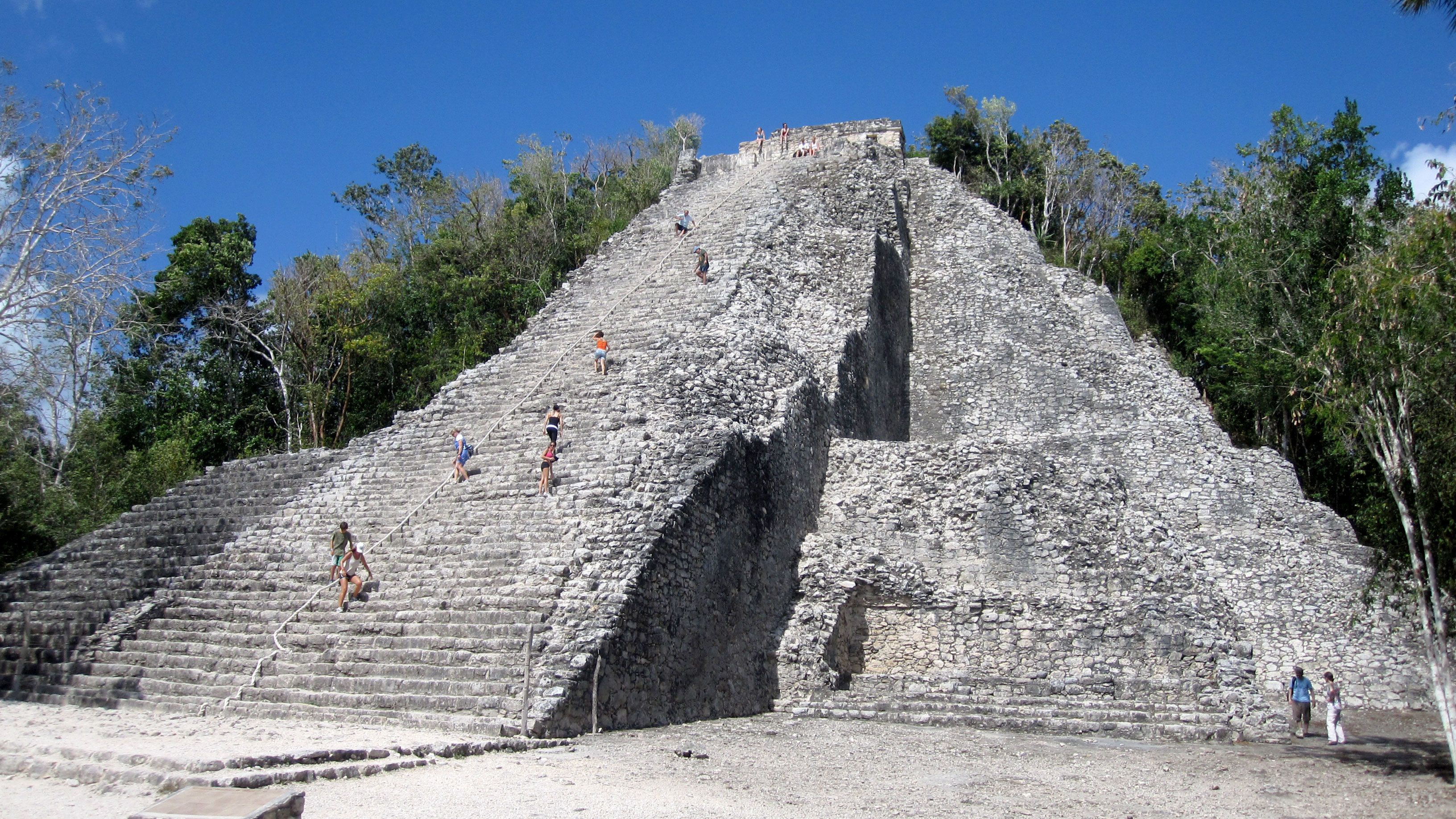 Pyramid in Coba, Mexico