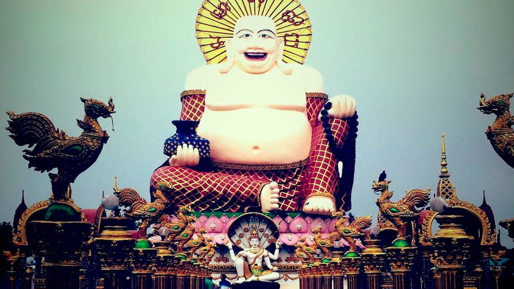Show item 3 of 5. Buddhist statues in Samui City