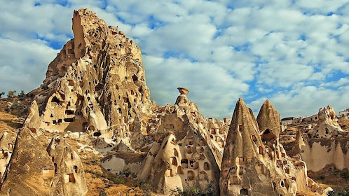 Fairy chimney rock formations in Cappadocia