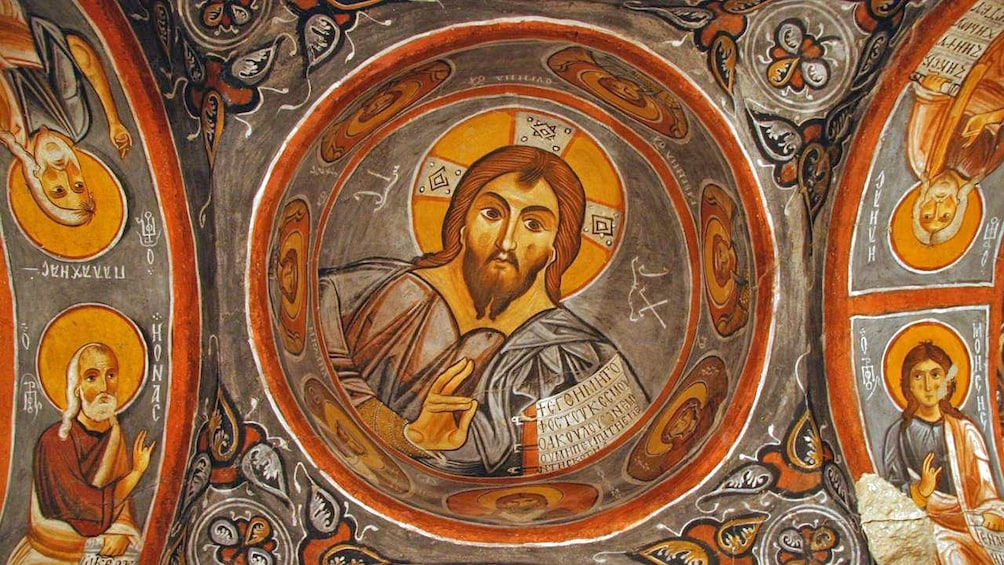 Show item 1 of 8. Religious paintings in Cappadocia