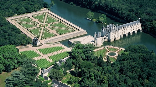 Aerial view of Loire Valley Castles