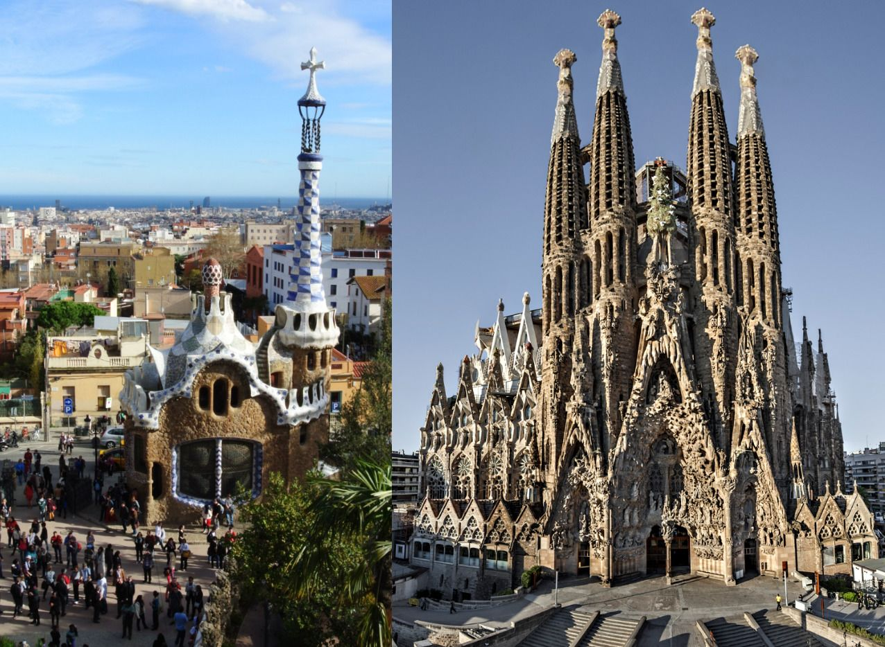 Park Güell & Sagrada Familia with transportation in between