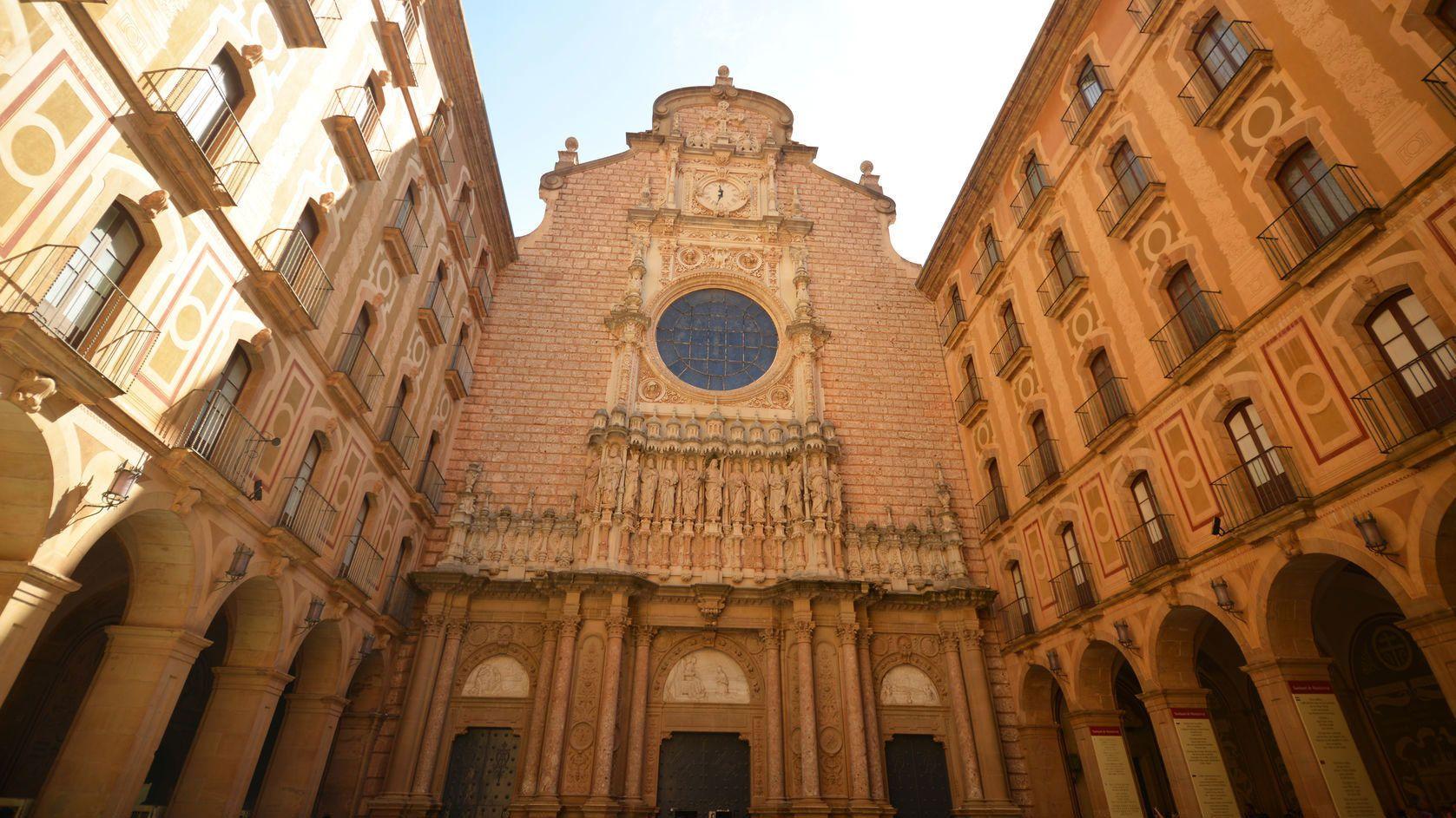 Facade of Montserrat cathedral
