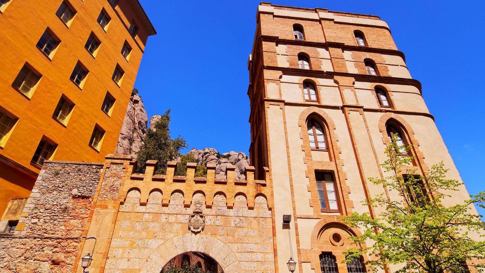 Looking up at monastery at Montserrat