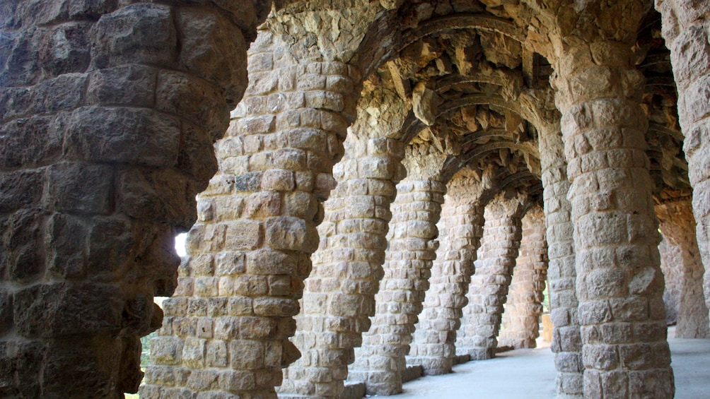 Columns at Park Guell in Barcelona