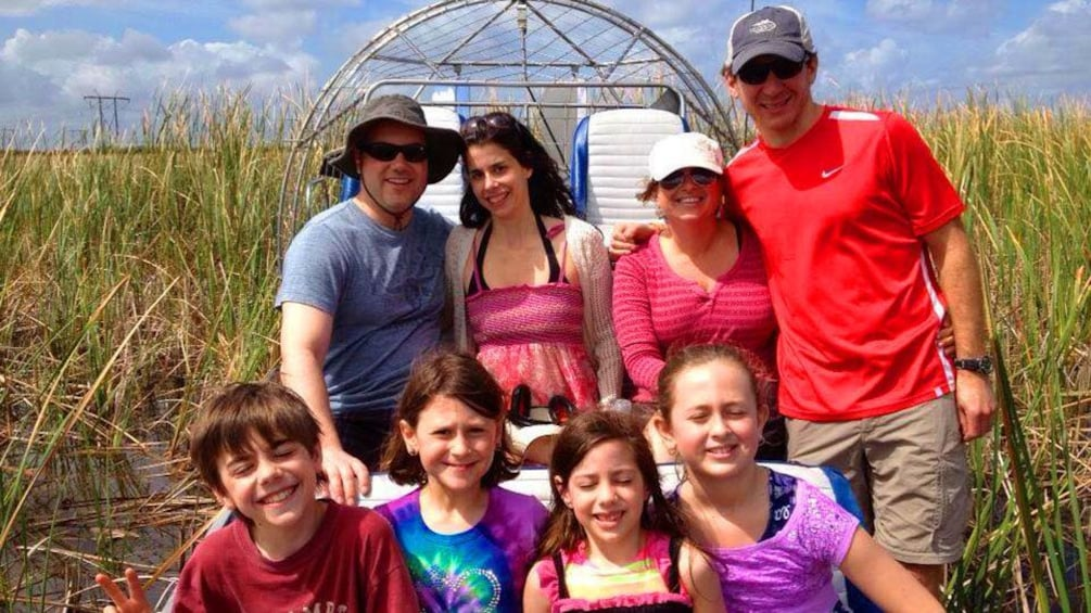 Family on an airboat