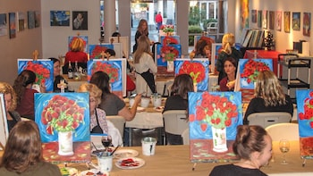 Artist-Led Painting & Wine Class