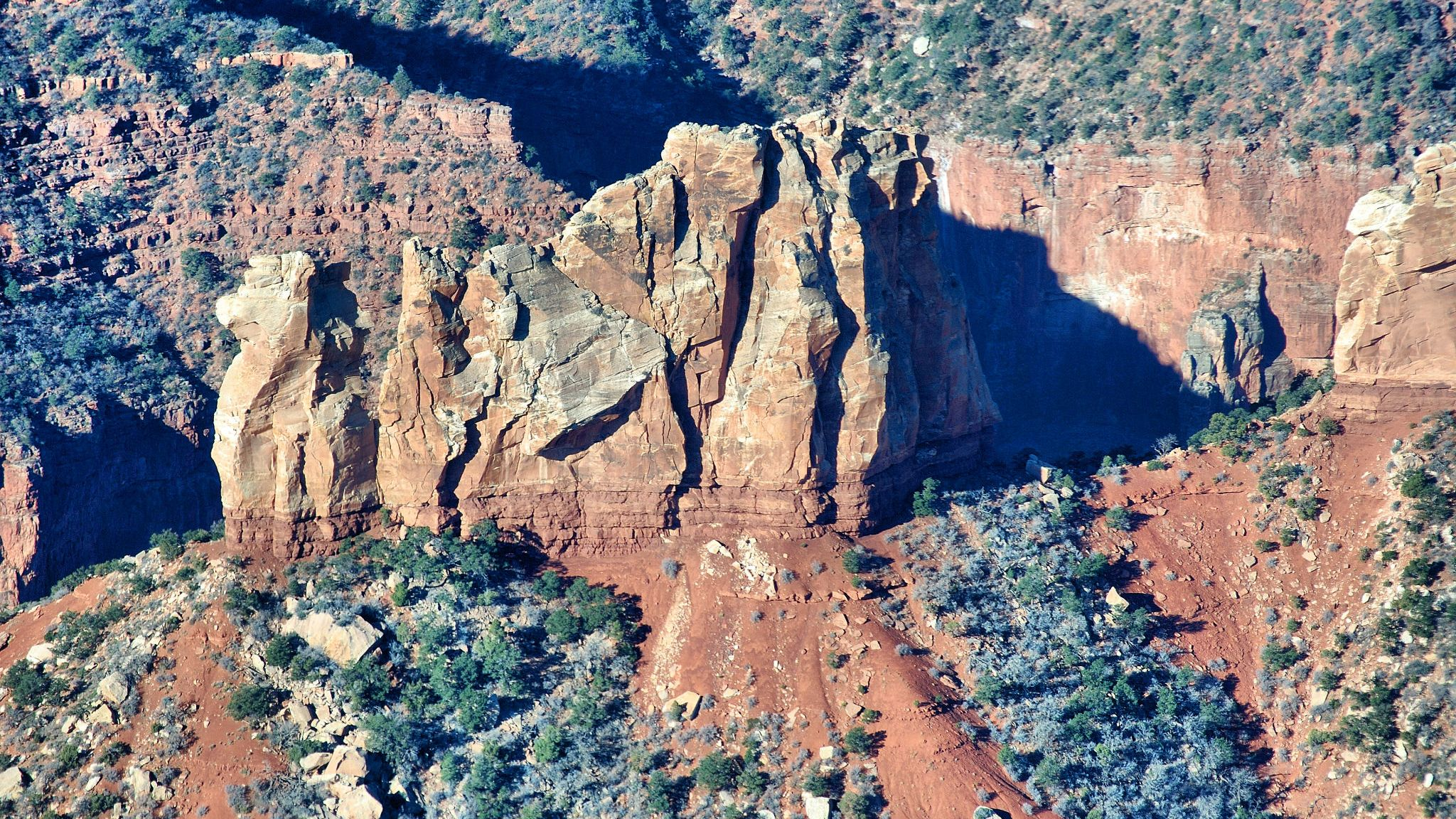 Rock formations of the Grand Canyon