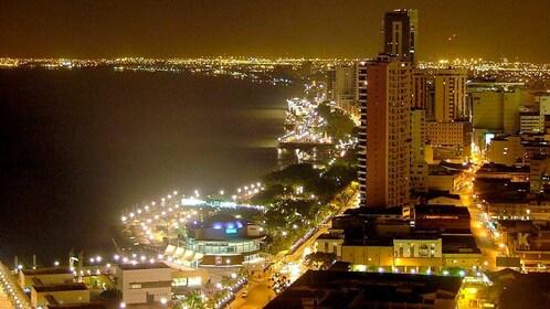 Night view of Ecuador