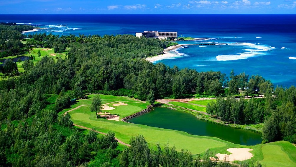 Show item 1 of 5. Scenic view of Arnold Palmer Golf Course at Turtle Bay