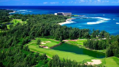 Scenic view of Arnold Palmer Golf Course at Turtle Bay
