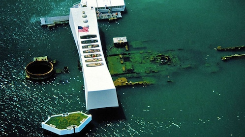 The USS Arizona at Pearl Harbor