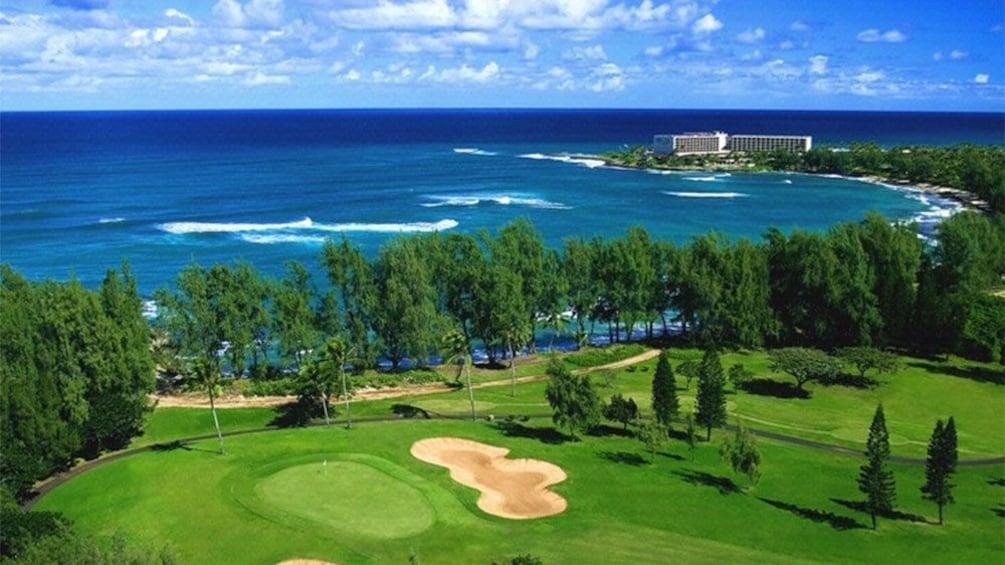 Carregar foto 1 de 5. Aerial view of George Fazio Golf Course at Turtle Bay